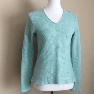 Eileen Fisher knit 100% Linen V neck Sweater